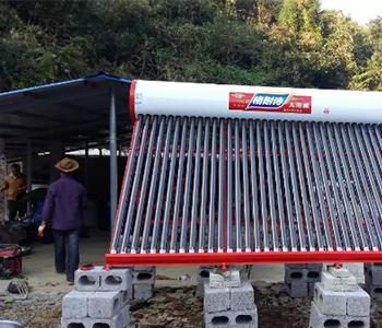 Solar water heater installation case