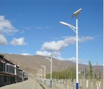 Street lamp in Tibet rural case