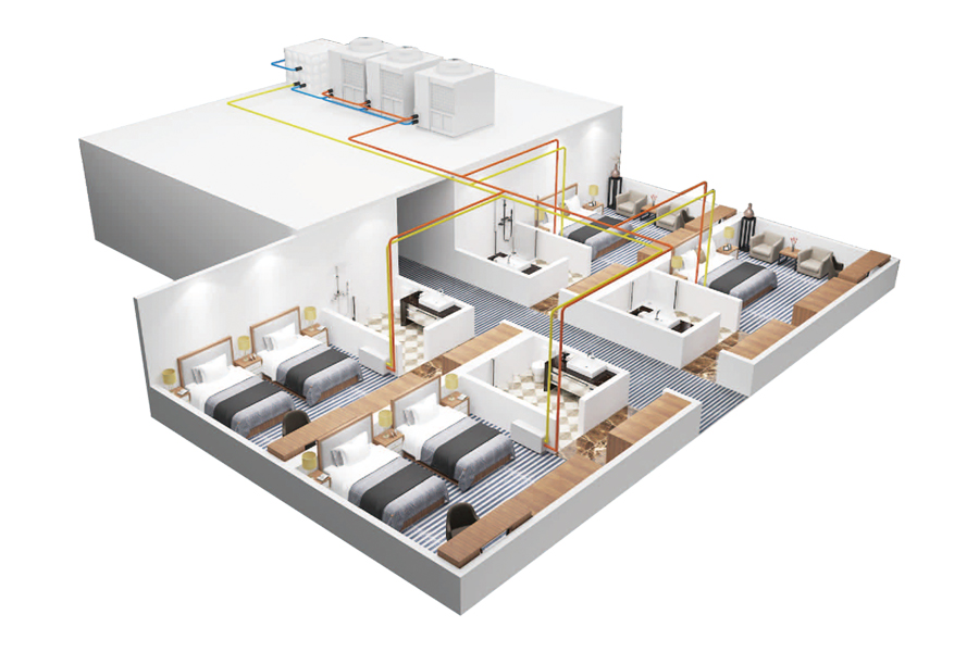 Air energy heating solution