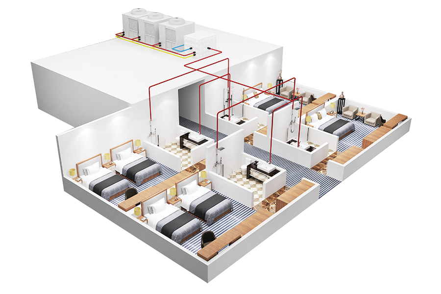 Air energy hot water solution