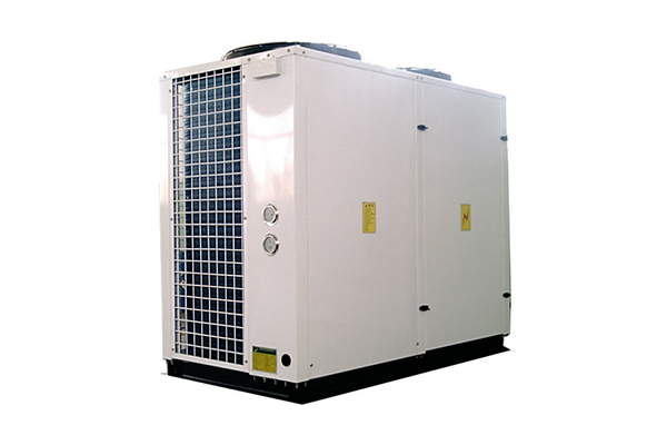 Air-cooled hot and cold water unit